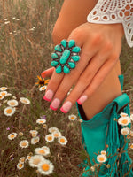 The Turquoise Wildflower Ring