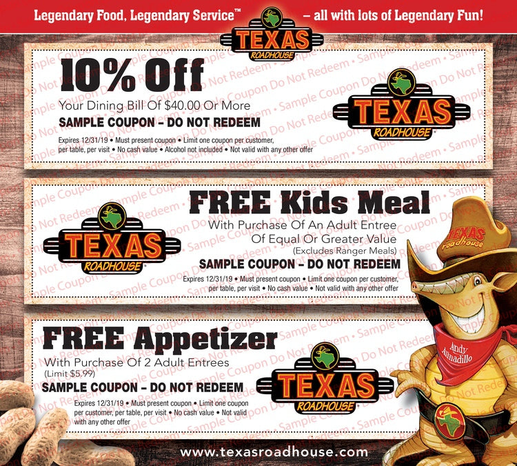 picture relating to Texas Roadhouse Free Appetizer Printable Coupon referred to as Via Image Congress Texas Roadhouse Coupon codes 2019