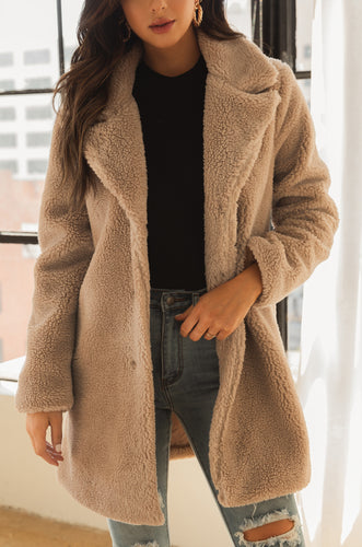 Cabin Dreams Teddy Coat - Nude