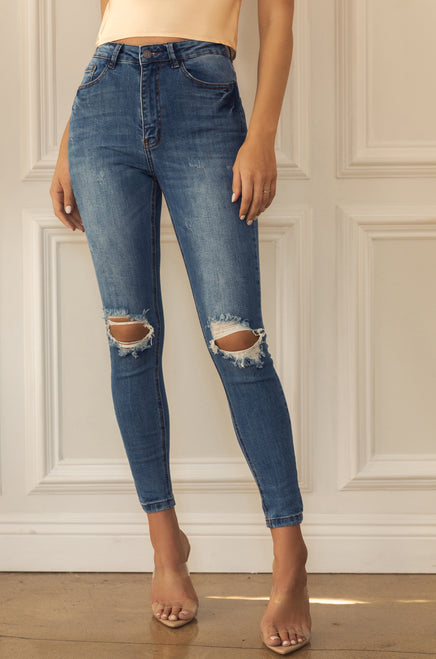 Total Flirt Jean Pant - Denim