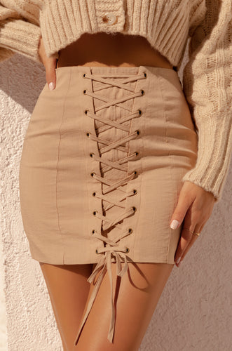 Risk Taker Skirt - Nude