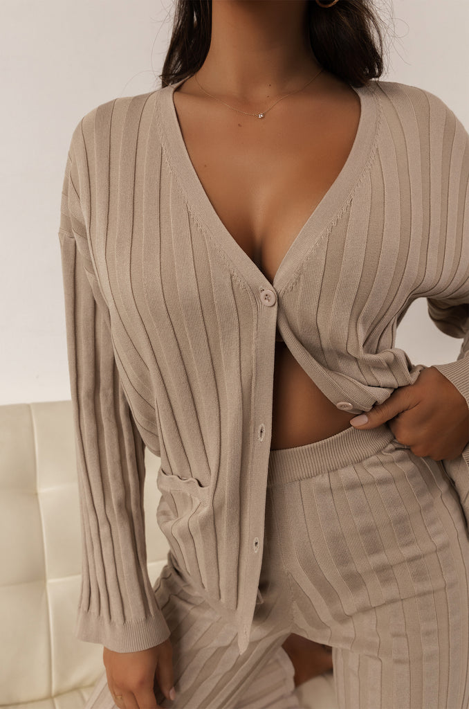 Can't Forget Me Cardigan - Nude