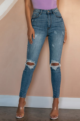 Total Flirt Jean Pant - Light Denim
