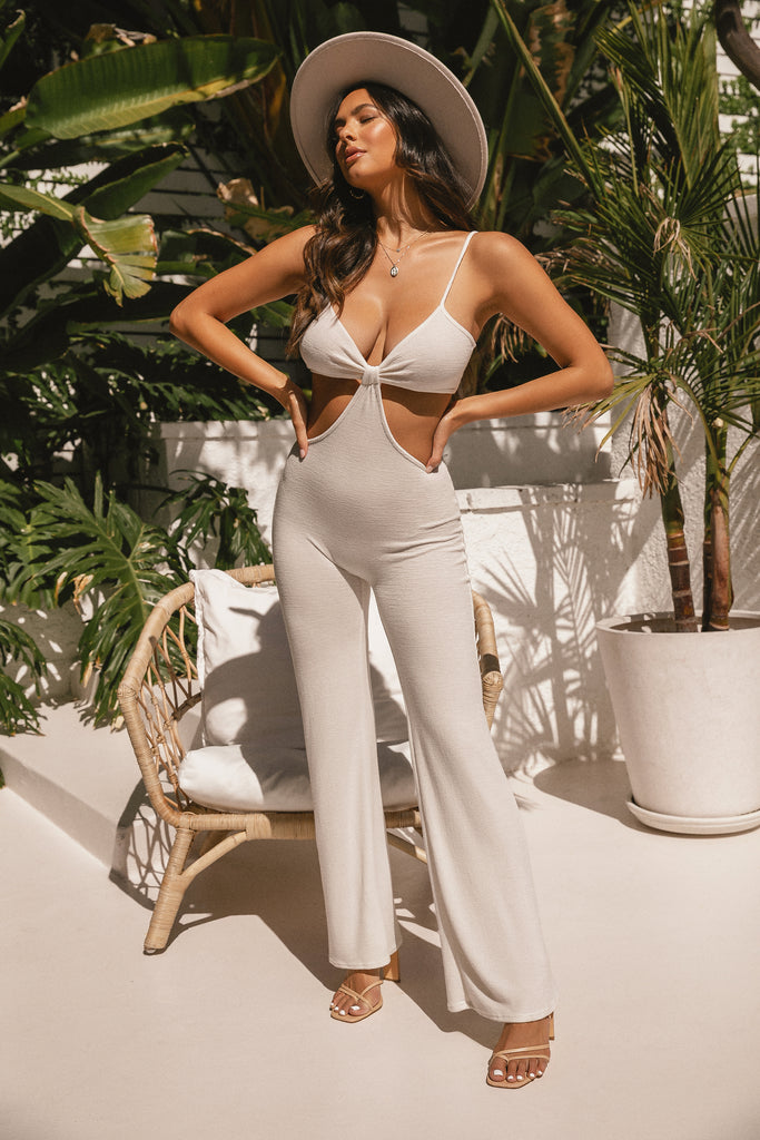 Private Oasis Jumpsuit - White