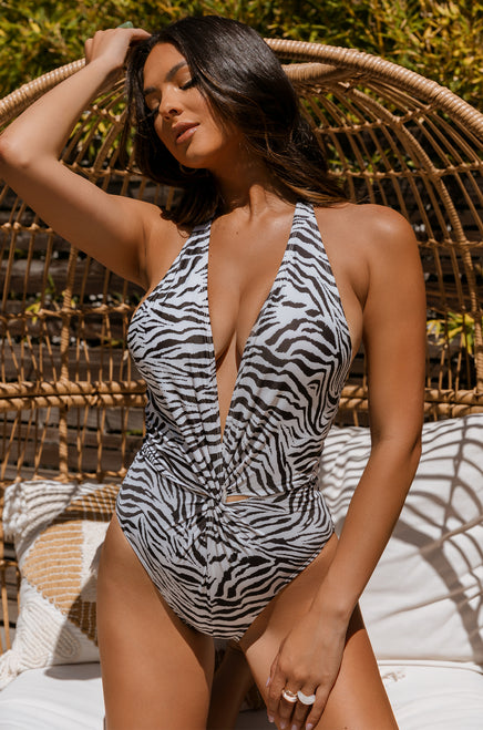 Safari Getaway Swimsuit - Zebra