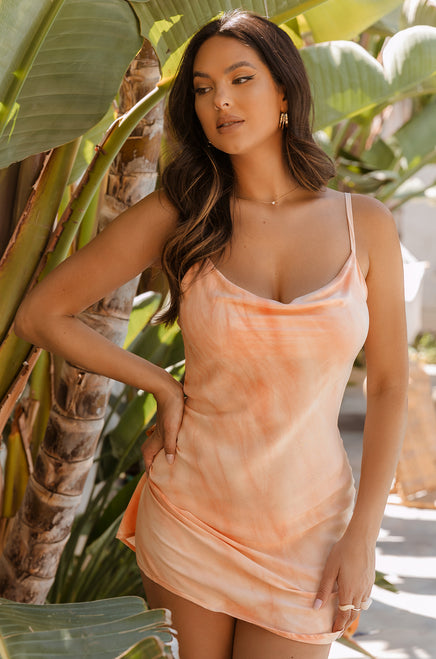 Cancun Sunset Dress - Peach