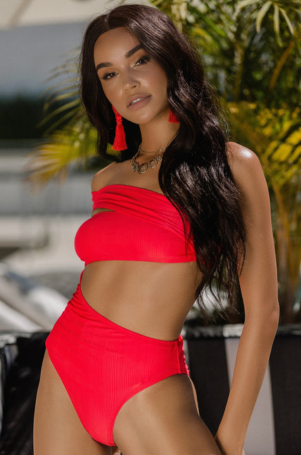Sun City Swimsuit - Red