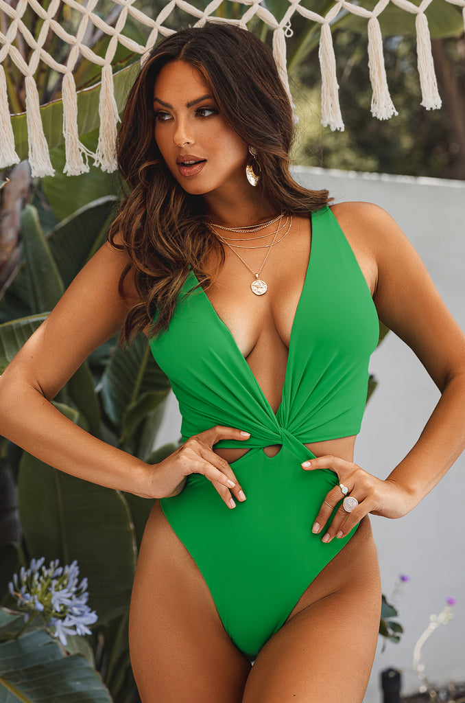 Slaycation Swimsuit - Green 6