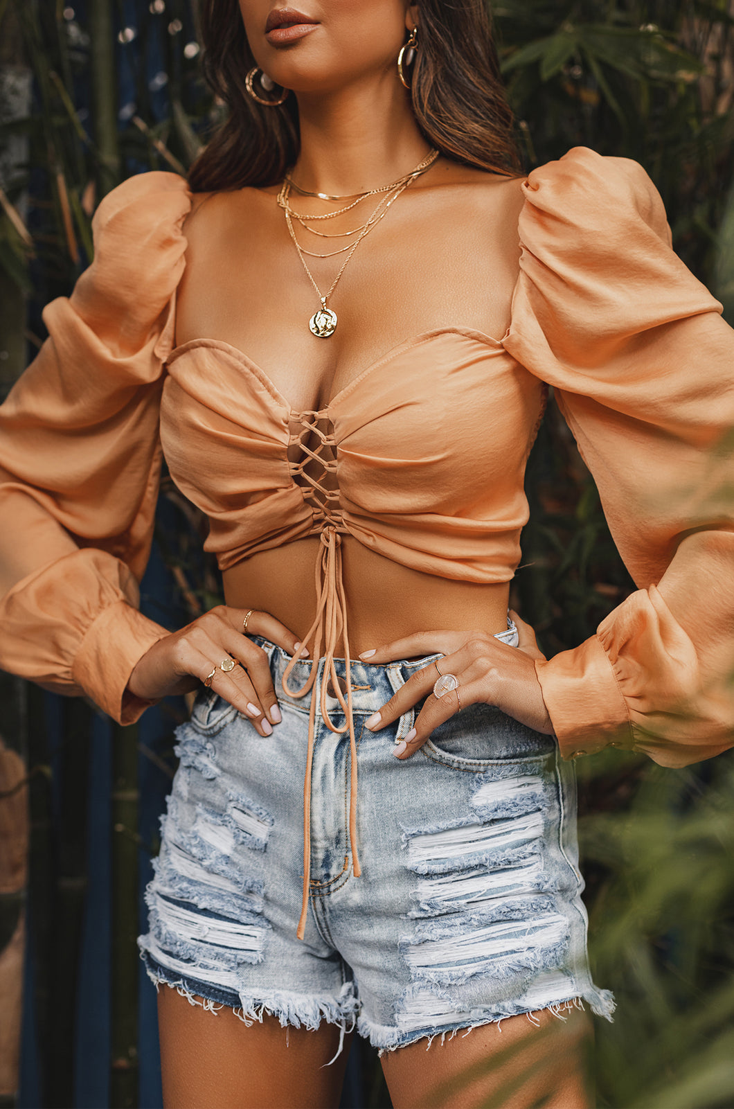Lost In Paradise Top - Peach