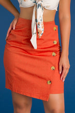 Press Your Luck Skirt - Rust