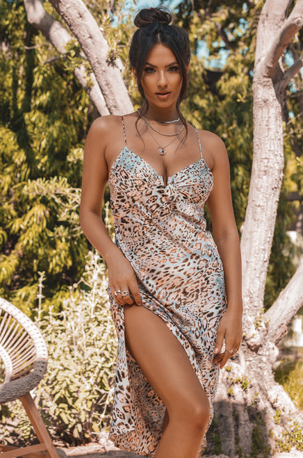 Safari Resort Dress - Leopard