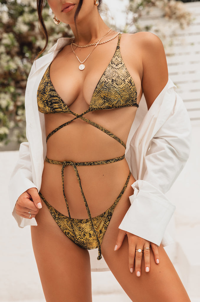 Blazing Heat Bikini Top - Gold