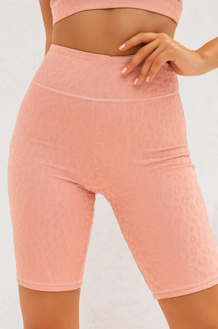 Work It Out Biker Short - Mauve