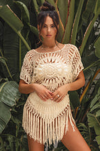 Sunset Desire Crochet Top - Nude