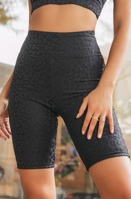 Work It Out Biker Short - Black