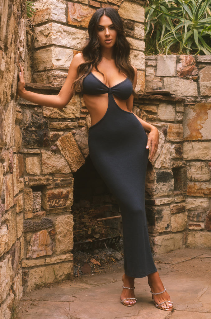 Sultry Desire Dress - Navy