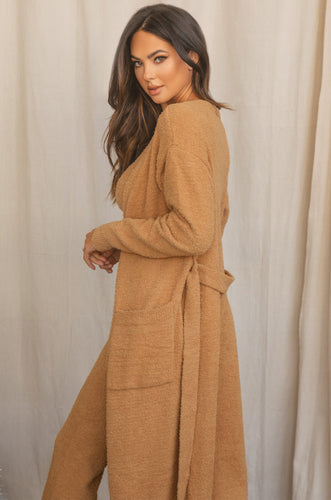Call Me Cozy Long Cardigan - Nude