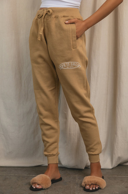 Life Is Short, Buy Shoes Jogger - Nude