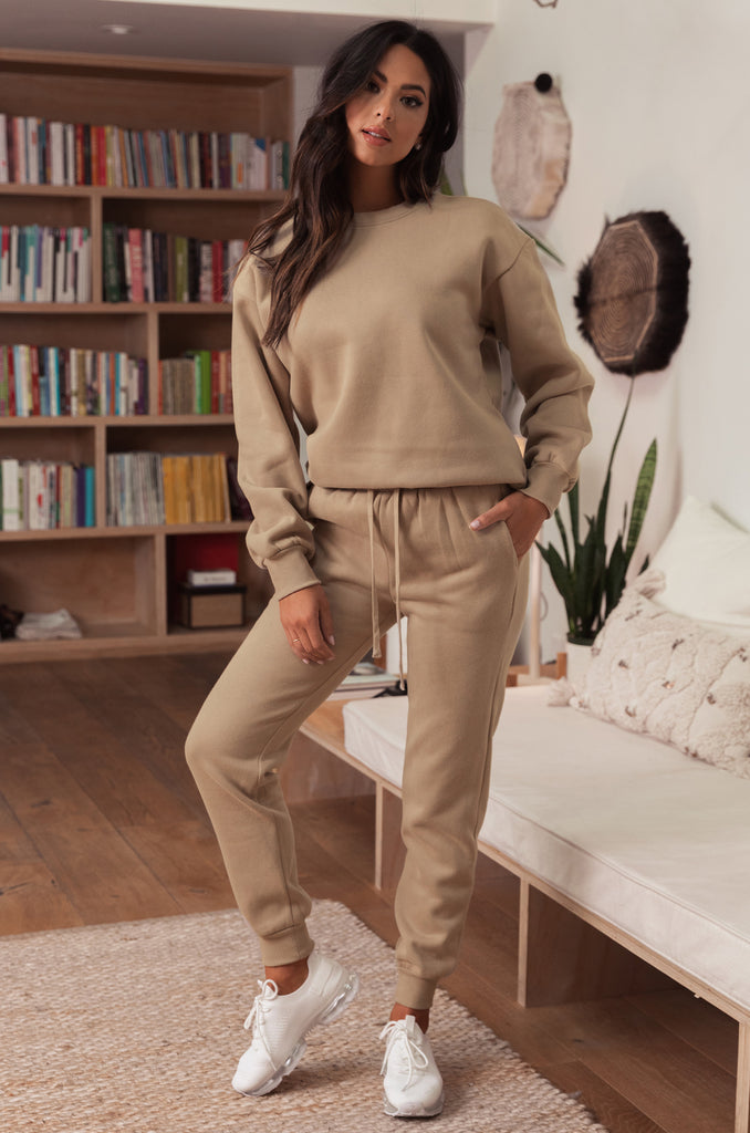 Cozy Feels Jogger - Natural