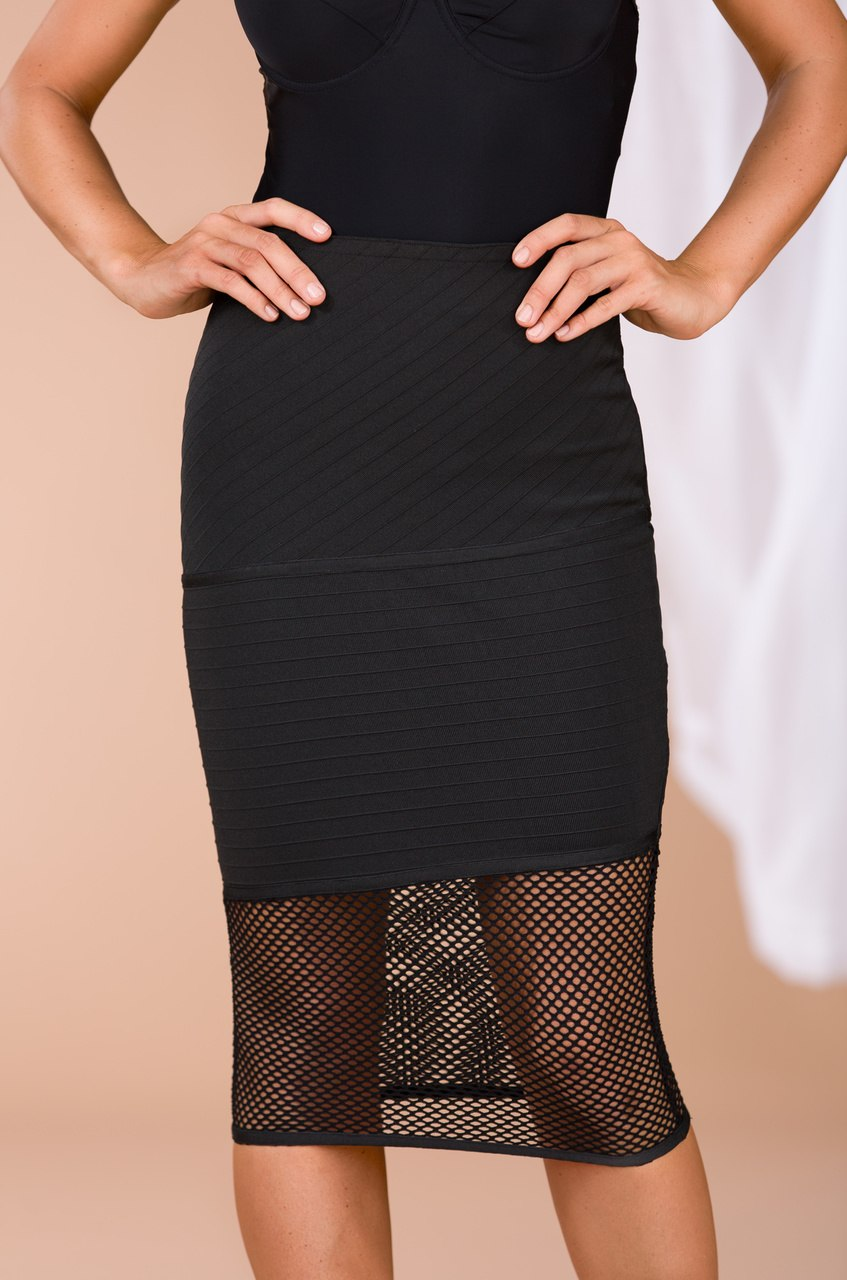 I Call the Shots Skirt - Black