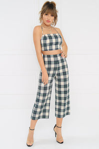 Double Your Luck Set - Navy Plaid