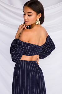 Expect The Unexpected Bandeau Top - Navy