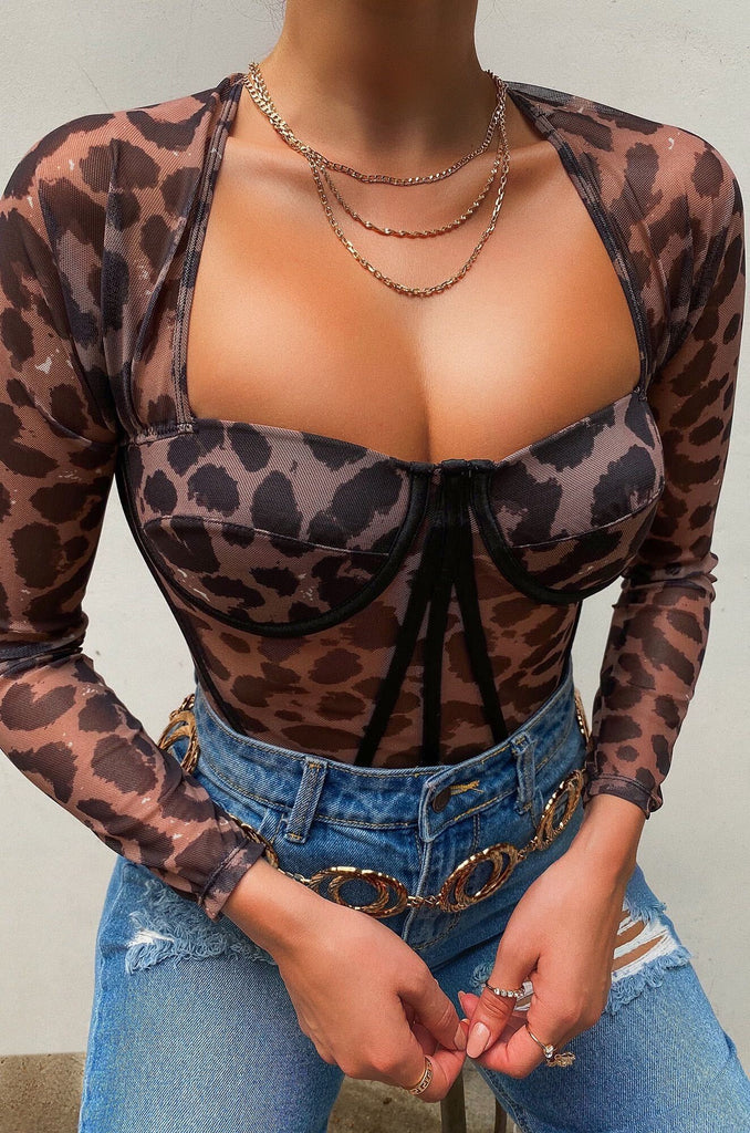 Somebody's Angel Top - Leopard
