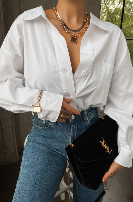 Being Chic Top - White