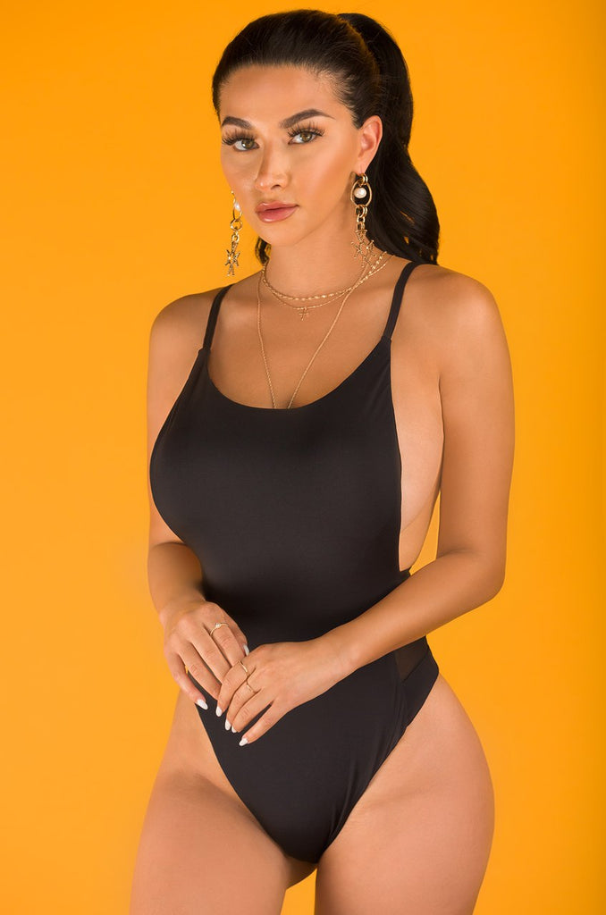Look Back At It Swimsuit - Black