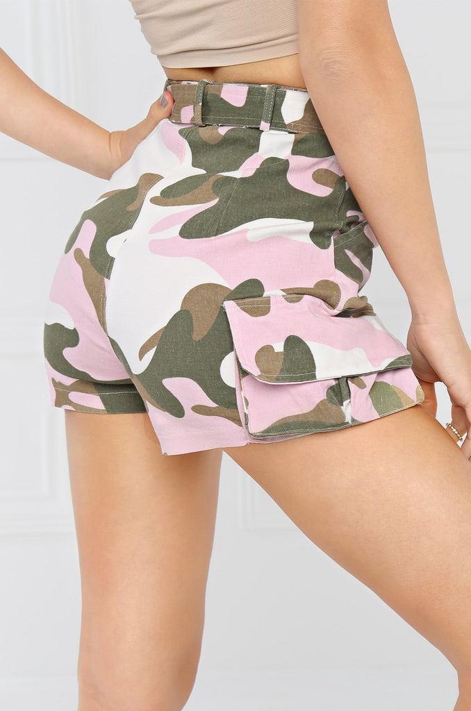Easy Does It Shorts - Pink Camouflage