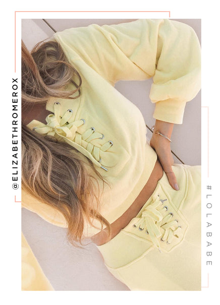 All Star Crop Sweatshirt - Yellow