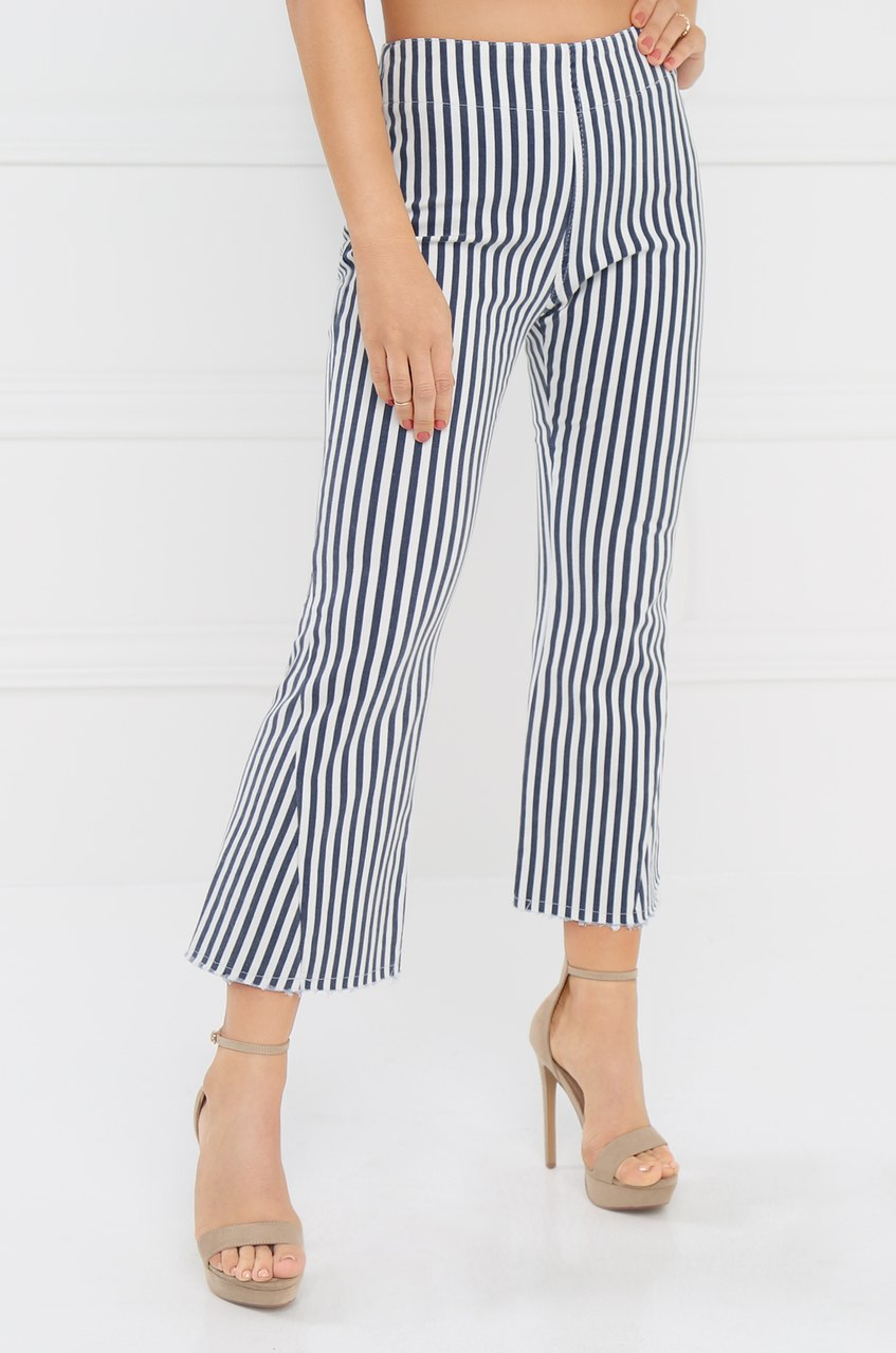 Set Sail Trouser - Navy Stripe