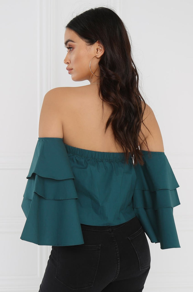 Femme Flair Crop Top - Teal