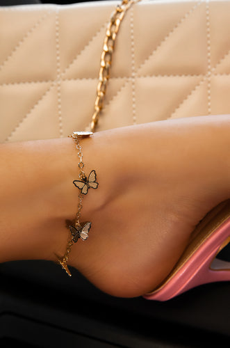Fly With Me Anklet - Gold
