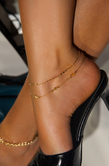 Pure Happiness Anklet - Gold