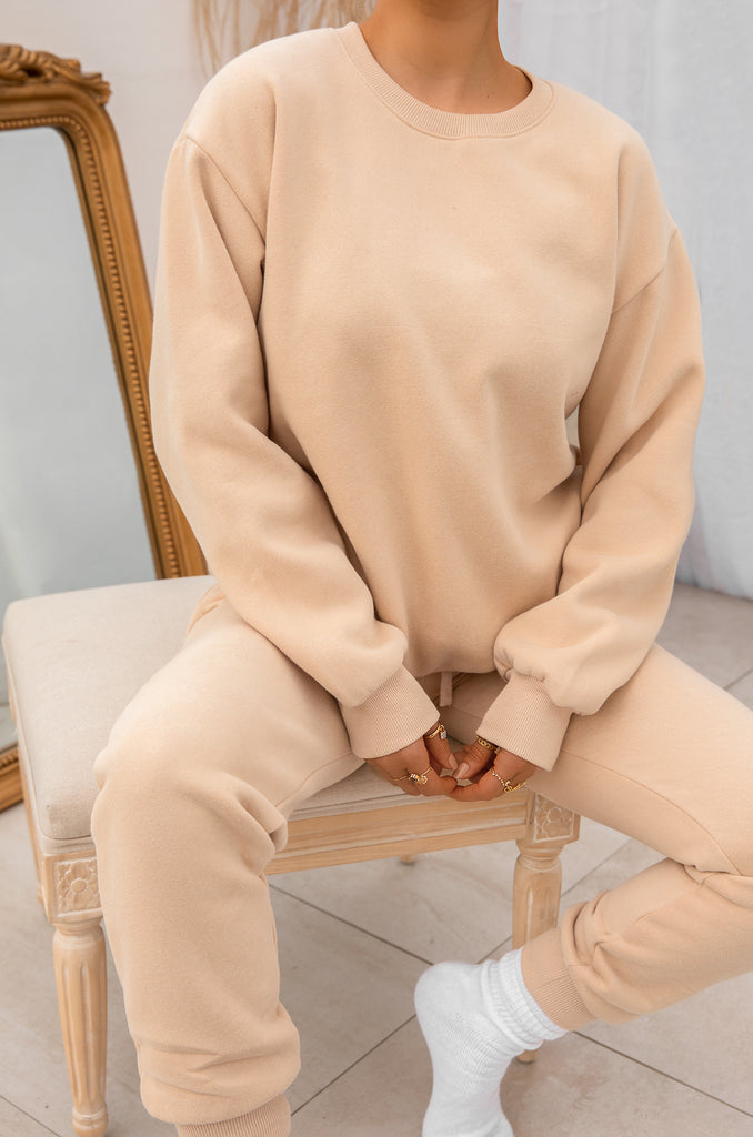 Cozy Feels Crewneck - Nude