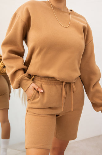 Cozy Feels Crewneck - Camel