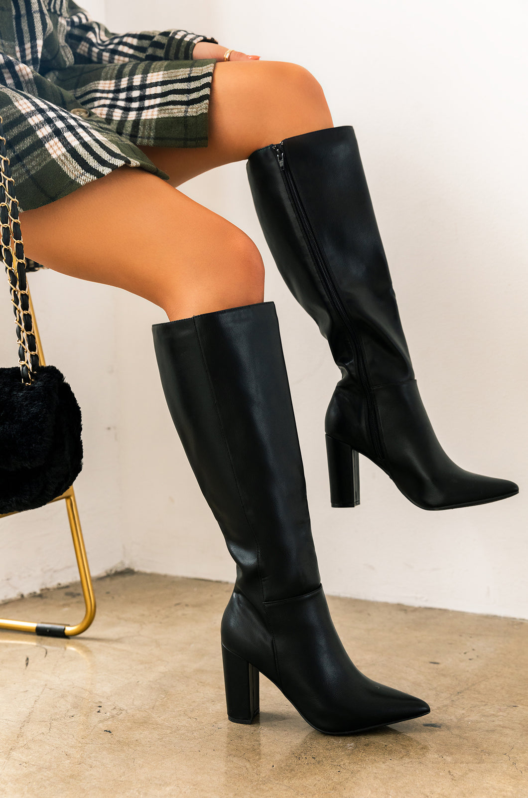 Perf For Fall - Black PU