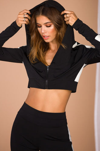 Flexin' Worldwide Crop Sweatshirt - Black