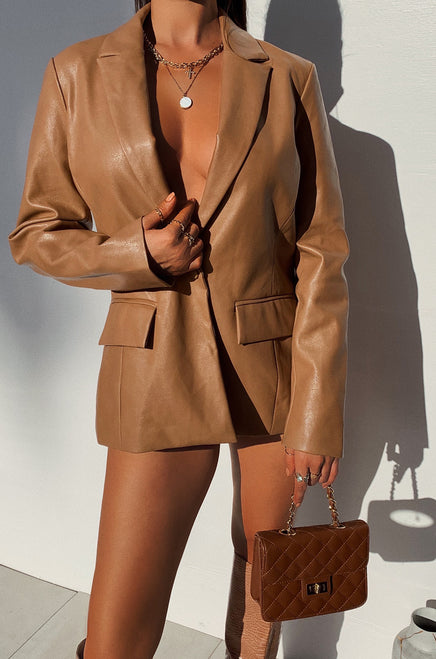Sunset Views Blazer - Camel