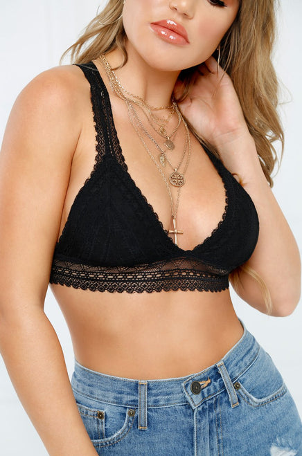 Get Me Going Bralette - Black