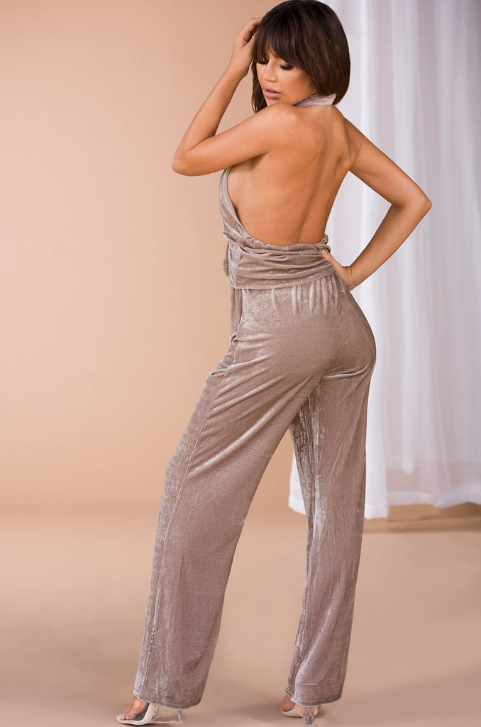 Flex on Your Ex Jumpsuit - Taupe