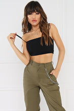Double Dare Crop Top - Black