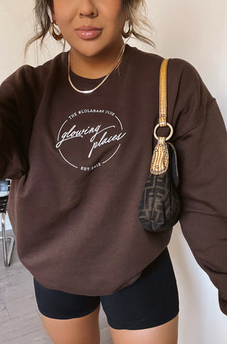 Glowing Places Crewneck - Mocha