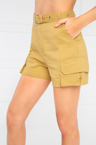 Play The Game Shorts - Camel