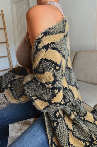 Cozy Moves Cardigan - Snake