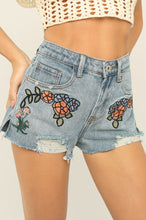 Grow On Denim Shorts - Light Wash
