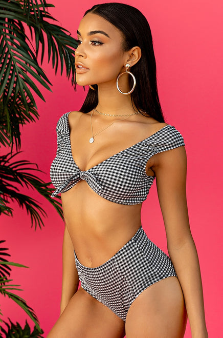 Sea You Later Bikini Set - Black