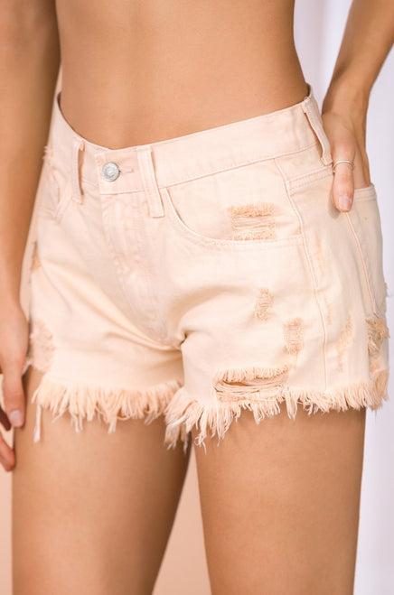 High Sierra Denim Shorts - Nude