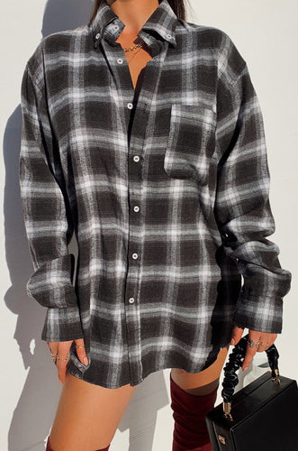Leanne Flannel - Black
